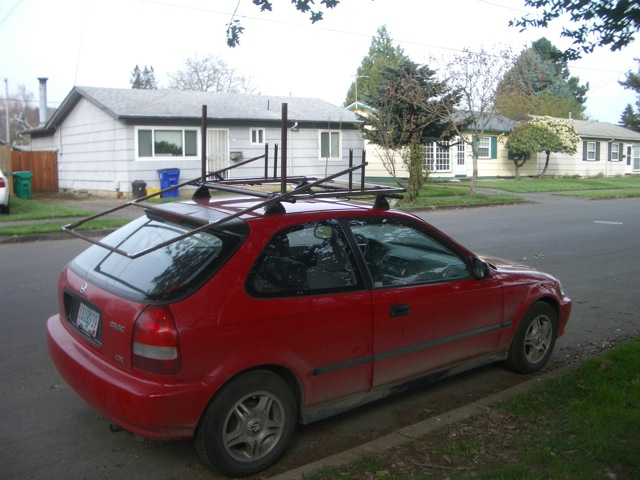 cart on car